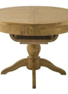 Classic Portland Round Butterfly Extending Dining Table - Oak Grand