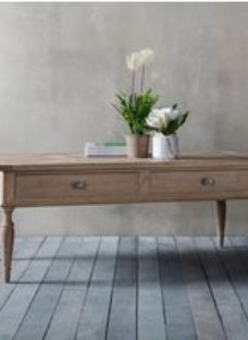 Clearance - Hudson Living Mustique 2 Drawer Coffee Table - New - E-539