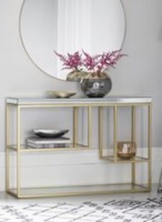 Clearance - Gallery Pippard Champagne and Mirrored Console Table - New - E-562
