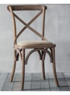 Clearance - Gallery Cafe Natural Dining Chair (Pair) - New - E-574