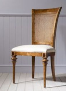 Clearance - Frank Hudson Spire Cane Back Dining Chair - Walnut - New - E-571