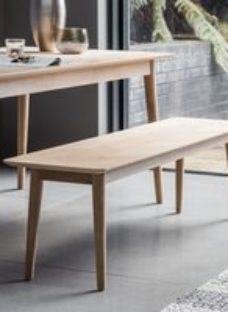 Clearance - Gallery Milano Oak Dining Bench - New - E-578