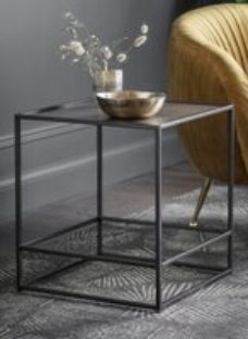 Clearance - Gallery Hadston Antique Gold Side Table - New - E-572