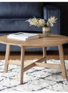 Clearance - Gallery Madrid Oak Round Coffee Table - New - E-584