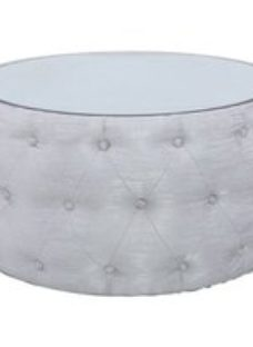 Massena Silver Coffee Table with Mirrored Top