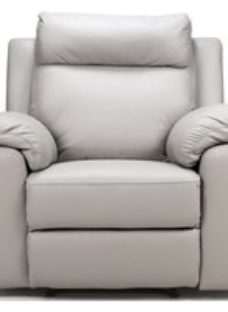 Enzo Putty Leather Fixed Armchair