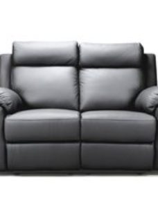Enzo Grey Leather 2 Seater Electric Recliner Sofa