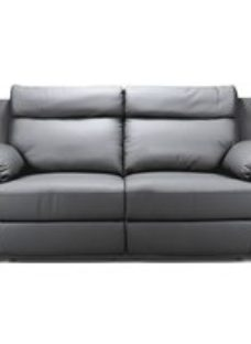 Enzo Grey Leather 3 Seater Recliner Sofa