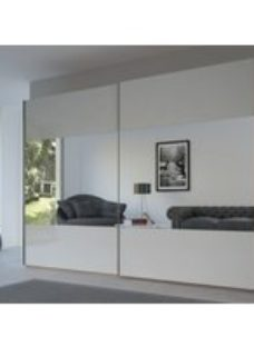 Rauch 20UP Front 8 Sliding Wardrobe with Glossy Glass Front