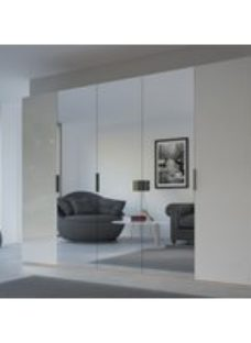 Rauch 20UP Front 8 Wardrobe with Glossy Glass Front