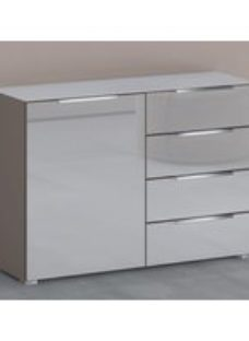 Rauch 20UP Cupboard with Glossy Glass Front and Top - H 84cm